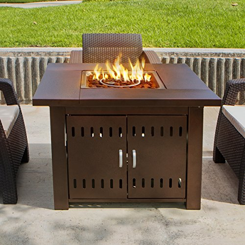 XtremepowerUS-Out-door-Patio-Heaters-LPG-Propane-Fire-Pit-Table-Hammered-Bronze-Steel-Finish-0