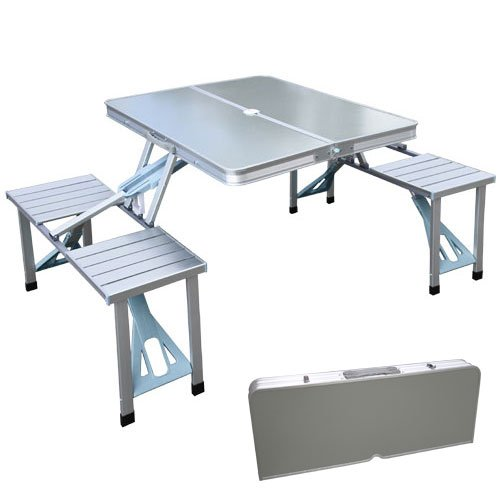 XtremepowerUS-Outdoor-Aluminum-Portable-Folding-Camp-Suitcase-Foldable-Picnic-Table-w-4-Seats-0