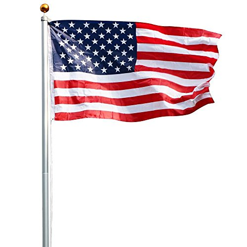 Yaheetech-Heavy-Duty-Aluminum-Flag-Pole-Outdoor-Halyard-Pole-2-Free-3x5-American-Flags-0