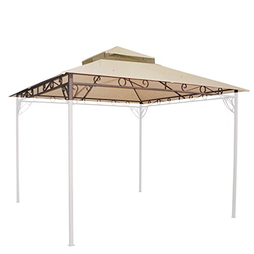 Yescom-108x108-Outdoor-Waterproof-Gazebo-Canopy-Top-Replacement-2-tier-Cover-for-10x10-Frame-0