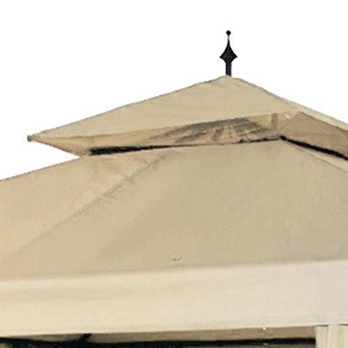 Yescom-10x10ft-2-Tier-Waterproof-Gazebo-Canopy-Replacement-Beige-Outdoor-Garden-Yard-Patio-Top-Cover-0-0