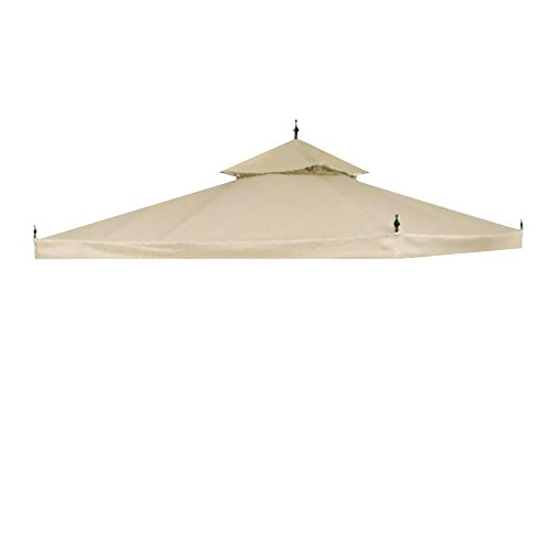 Yescom-10x10ft-2-Tier-Waterproof-Gazebo-Canopy-Replacement-Beige-Outdoor-Garden-Yard-Patio-Top-Cover-0