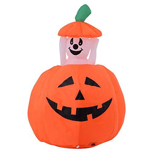 Youzee-4FT-Halloween-Inflatable-UpDown-Ghost-Pumpkin-YardIndoor-Decor-Lighted-Blow-up-0