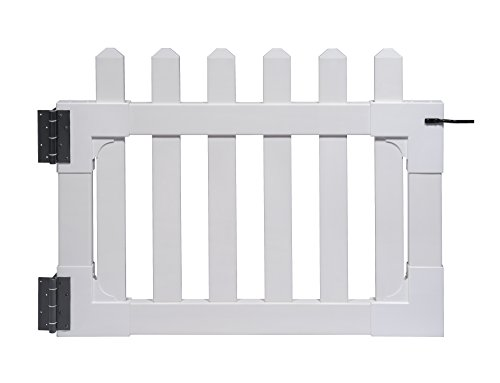 Zippity-Outdoor-Products-ZP19004-Newport-Vinyl-Picket-Unassembled-Gate-36-x-48-White-0