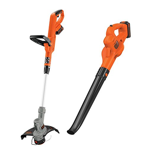 Black-Decker-20-Volt-Max-Lithium-Ion-Cordless-String-TrimmerSweeper-Combo-Kit-2-Tool-with-2-15Ah-Batteries-and-Charger-Included-0