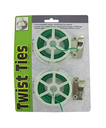 Kole-Imports-Twist-Tie-Spools-with-Cutter-Set-of-24-0