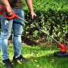 PowerSmart-PS76210A-Cordless-String-Trimmer-red-Black-0-2