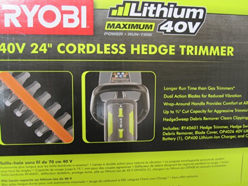 Ryobi-40-Volt-Cordless-Hedge-Trimmer-24-includes-Lithium-Ion-Battery-plus-Charger-0-0