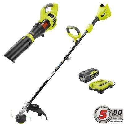 Ryobi-40-Volt-Lithium-Ion-Cordless-Brushless-String-TrimmerJet-Fan-Blower-Combo-Kit-30-Ah-Battery-and-Charger-Included-0
