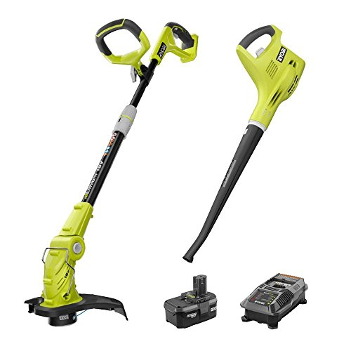Ryobi-P2013-ONE-18-Volt-Lithium-ion-String-TrimmerEdger-and-BlowerSweeper-Combo-Kit-0