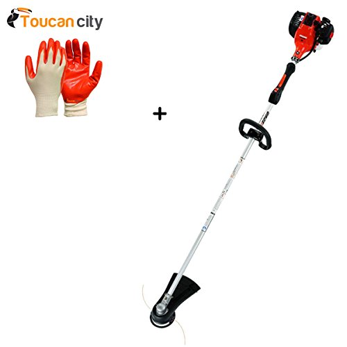 Toucan-City-Nitrile-Dip-Gloves5-Pack-and-ECHO-2-Cycle-281-cc-Straight-Shaft-Gas-Trimmer-SRM-280T-0