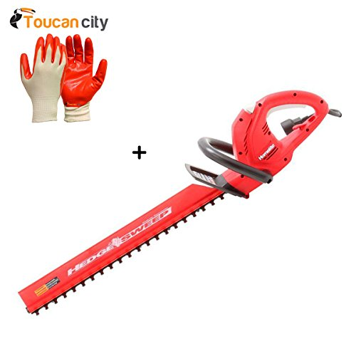 Toucan-City-Nitrile-Dip-Gloves5-Pack-and-Homelite-22-in-37-Amp-Electric-Hedge-Trimmer-UT44121A-0