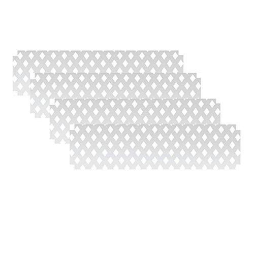1-ft-H-x-4-ft-W-White-Modular-Vinyl-Lattice-Fence-Panel-4-Pack-0-0