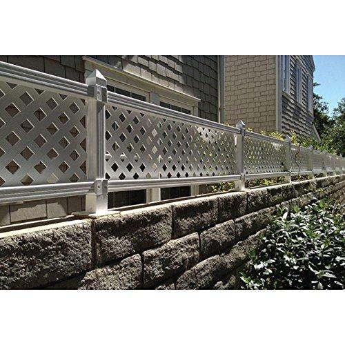 1-ft-H-x-4-ft-W-White-Modular-Vinyl-Lattice-Fence-Panel-4-Pack-0