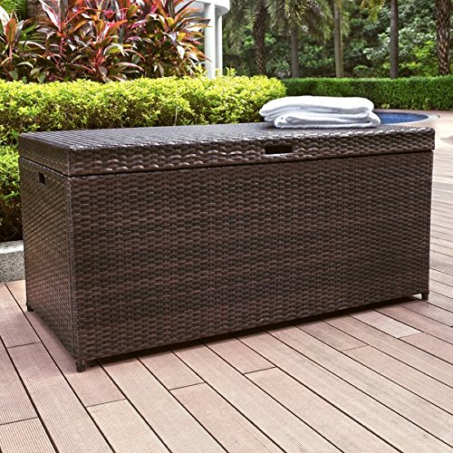 100-Gallon-Wicker-Rattan-Deck-Box-Durable-and-Long-Lasting-Steel-Frame-Construction-Plastic-Lid-Deck-Supports-for-Smooth-Closing-Ample-Storage-Space-Weather-and-Fade-Resistant-Brown-Finish-0-0