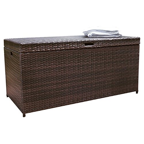 100-Gallon-Wicker-Rattan-Deck-Box-Durable-and-Long-Lasting-Steel-Frame-Construction-Plastic-Lid-Deck-Supports-for-Smooth-Closing-Ample-Storage-Space-Weather-and-Fade-Resistant-Brown-Finish-0