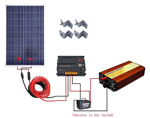 100-Watt-18V-Poly-Solar-Panel-Kits1pc-100w-Poly-Solar-Panel-1pc-12V-1KW-Inverter1-set-of-Z-Mounting-Brackets-1-set-5m-MC4-Solar-Cable-1-pc-20A-Tempreture-Compensation-Solar-Charge-Controller-0
