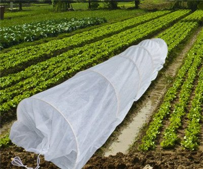10FT-Long-Agfabric-Grow-TunnelMini-GreenhouseHoophouse-Tunnel-Kits-09oz-Row-Cover-and15Dia3ft-Tunnel-Hoops-0-0