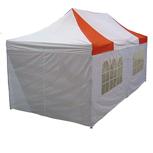 10×20-Pop-up-Canopy-Wedding-Party-Tent-Instant-EZ-Canopy-Red-White-F-Model-Commercial-Grade-Frame-By-DELTA-0