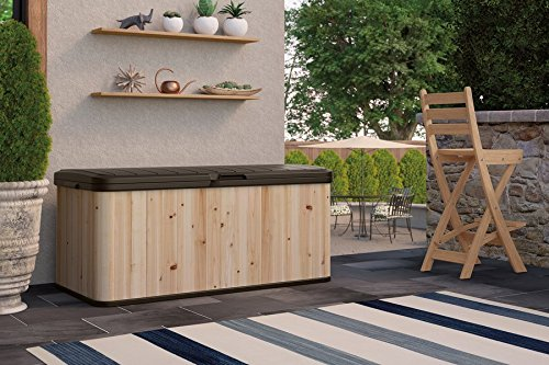 120-Gallon-Cedar-and-Resin-Deck-Box-Large-Storage-Capacity-Stylish-Wood-and-Plastic-Combination-Lockable-Waterproof-Sturdy-and-Long-Lasting-Solid-Cedar-Wood-Construction-Dark-BrownUnfinished-0-1
