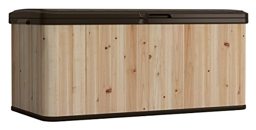 120-Gallon-Cedar-and-Resin-Deck-Box-Large-Storage-Capacity-Stylish-Wood-and-Plastic-Combination-Lockable-Waterproof-Sturdy-and-Long-Lasting-Solid-Cedar-Wood-Construction-Dark-BrownUnfinished-0