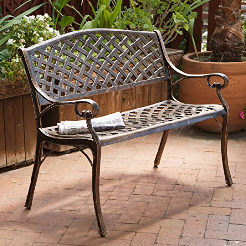 14th-Mobility-Rust-Proof-Outdoor-Patio-Backyard-Garden-Bench-with-Cast-Aluminum-Construction-Charming-and-Antique-Look-Brown-Expert-Guide-0