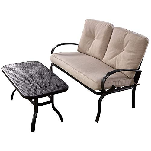2-Pcs-Patio-Outdoor-LoveSeat-Coffee-Table-Set-Furniture-Bench-With-Cushion-0-1