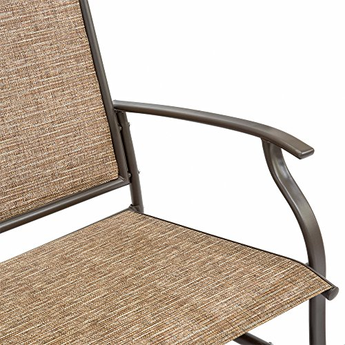 2-Person-Loveseat-Patio-Glider-Bench-Rocker-Sturdy-and-Long-Lasting-Steel-Frame-Construction-Comfortable-Ergonomic-Design-Durable-Strong-and-Waterproof-Fabric-Sleek-Design-Brown-Finish-0-2