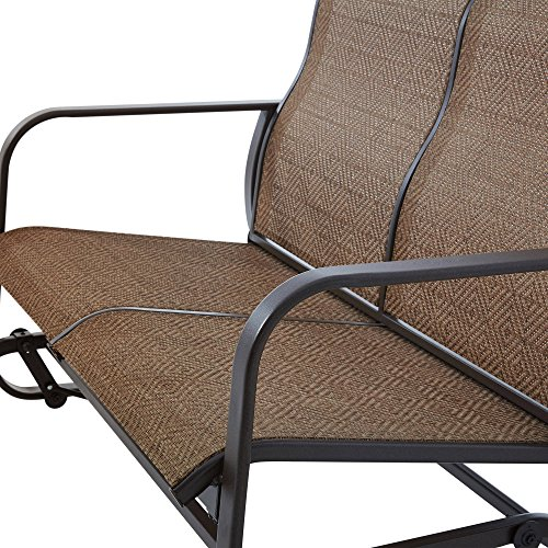 2-Person-Outdoor-Bench-and-Swing-Chair-Sturdy-and-Long-Lasting-Powder-Coated-Steel-Construction-Weather-and-Fade-Resistant-Smooth-Glide-Motion-Mesh-Seating-Ideal-for-Patio-Backyard-Porch-0-1