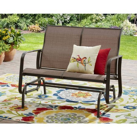 2-Person-Outdoor-Bench-and-Swing-Chair-Sturdy-and-Long-Lasting-Powder-Coated-Steel-Construction-Weather-and-Fade-Resistant-Smooth-Glide-Motion-Mesh-Seating-Ideal-for-Patio-Backyard-Porch-0