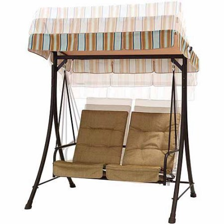 2-Seat-Swing-with-Pullout-Ottomans-2-Pull-Out-Ottomans-add-Comfort-in-a-Compact-Design-Fade-Resistant-Fabric-UV-Treated-Seat-Backs-Feature-a-Tufted-Design-Durable-Powder-Coated-Steel-Frame-0