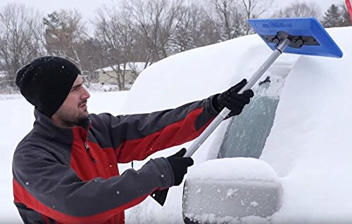 2-Snow-Joe-Car-Windshield-Ice-Scraper-Telescoping-Foam-Snow-Tool-Brooms-18-InchTelescoping-Pole-Extends-From-30-To-49-Inches-0-0