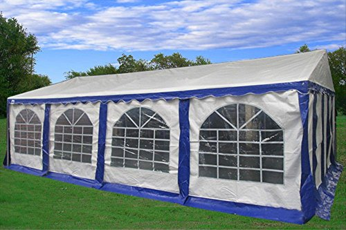 26×16-PE-Party-Tent-BlueWhite-Heavy-Duty-Wedding-Canopy-Carport-with-Storage-Bags-By-DELTA-Canopies-0-0