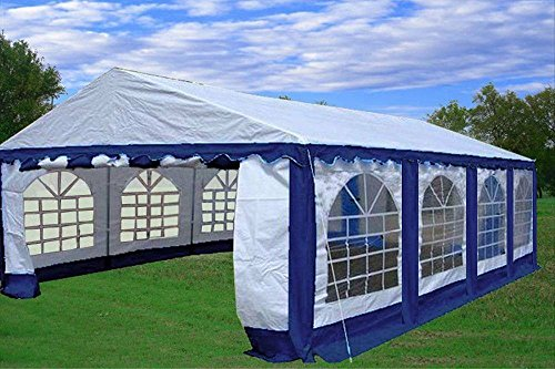 26×16-PE-Party-Tent-BlueWhite-Heavy-Duty-Wedding-Canopy-Carport-with-Storage-Bags-By-DELTA-Canopies-0-2