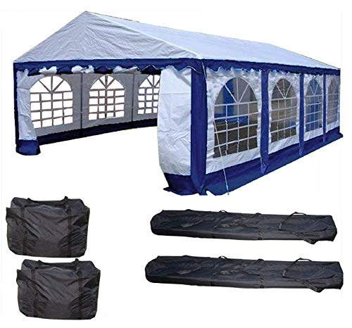 26×16-PE-Party-Tent-BlueWhite-Heavy-Duty-Wedding-Canopy-Carport-with-Storage-Bags-By-DELTA-Canopies-0