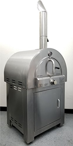 305-LPG-Propane-Gas-Stainless-Steel-Artisan-Pizza-Oven-or-Grill-with-Cover-Outdoor-or-Indoor-0