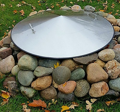 36-Diameter-Stainless-Steel-Metal-Dome-Fire-Pit-Ring-Snuff-Cover-Lid-0-0