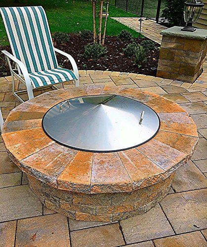 36-Diameter-Stainless-Steel-Metal-Dome-Fire-Pit-Ring-Snuff-Cover-Lid-0-1