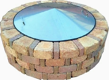 39 Round Stainless Steel Metal Fire Pit Cover Top Lid
