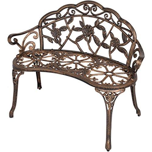 40-Antique-Rose-Pattern-Garden-Bench-Sturdy-Aluminum-Cast-Frame-Outdoor-Seats-Chair-Home-Backyard-Deck-Porch-Furniture-Decor-Antique-Bronze-1854brz-0-0