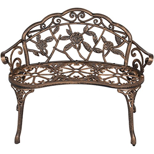40-Antique-Rose-Pattern-Garden-Bench-Sturdy-Aluminum-Cast-Frame-Outdoor-Seats-Chair-Home-Backyard-Deck-Porch-Furniture-Decor-Antique-Bronze-1854brz-0-1