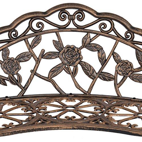 40-Antique-Rose-Pattern-Garden-Bench-Sturdy-Aluminum-Cast-Frame-Outdoor-Seats-Chair-Home-Backyard-Deck-Porch-Furniture-Decor-Antique-Bronze-1854brz-0-2