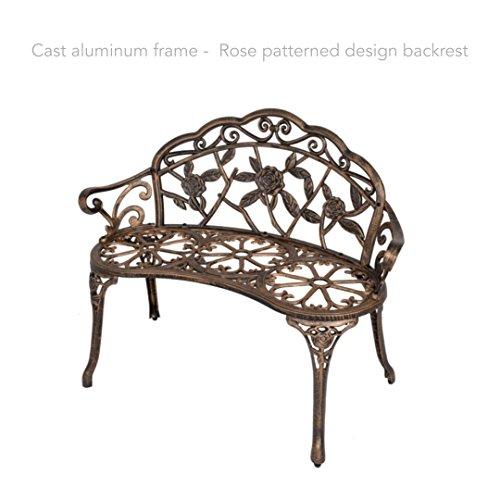 40-Antique-Rose-Pattern-Garden-Bench-Sturdy-Aluminum-Cast-Frame-Outdoor-Seats-Chair-Home-Backyard-Deck-Porch-Furniture-Decor-Antique-Bronze-1854brz-0