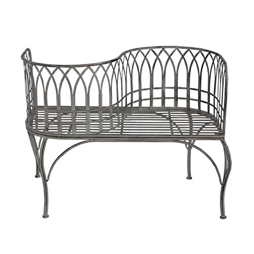 40-Cloud-Gray-Rustic-Distressed-Metal-Outdoor-Patio-Victorian-Courting-Bench-0