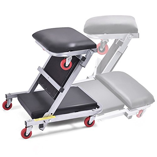 41-2-In-1-Foldable-Mechanics-Z-Creeper-Seat-Rolling-Chair-Garage-Work-Stool-New-0-2