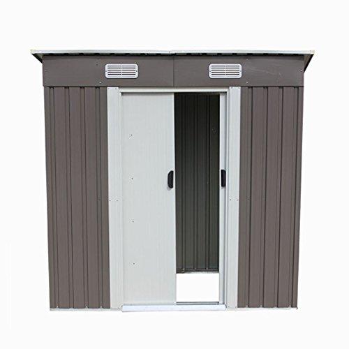 46-Outdoor-Steel-Metal-Garden-Storage-Shed-Tool-House-WSliding-Door-0-2