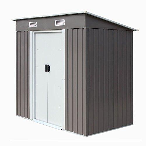 46-Outdoor-Steel-Metal-Garden-Storage-Shed-Tool-House-WSliding-Door-0-3