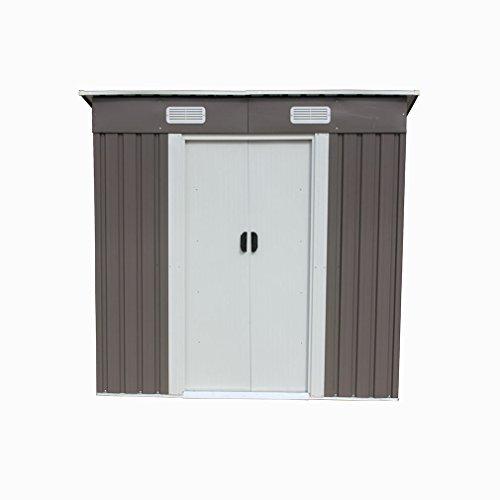 46-Outdoor-Steel-Metal-Garden-Storage-Shed-Tool-House-WSliding-Door-0-4