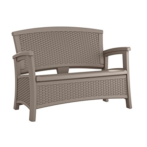 47-in-Resin-Loveseat-Storage-Bench-23-Gallon-Inner-Storage-Hardy-All-Weather-Wicker-Textured-Resin-Lumbar-Support-Armrests-Sturdy-and-Long-Lasting-Resin-Wicker-Construction-Multiple-Finishes-0