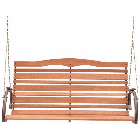 48-High-Back-Wood-Swing-with-Chain-Seats-2-People-Easily-Assembly-High-Back-Rounded-Seats-Comes-With-a-Strong-Hang-Chain-Natural-Hardwood-500-lb-Weight-Capacity-Perfect-Addition-to-Your-Patio-0-0